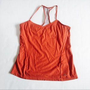Arcteryx women's red workout tank top